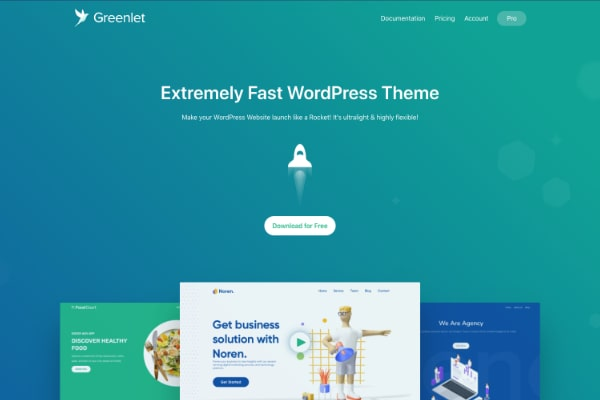 Greenlet WordPress theme